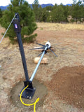 Wind Turbine Generator Base Gin Pole Assembly to Raise or Lower your Mount - Cutting Edge Power