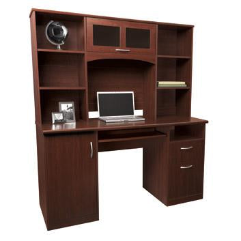 Realspace Outlet Landon Desk with Hutch, 64