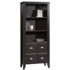 Sauder Shoal Creek Library With Doors, 69''H x 28 1/2''W x 14 1/2''D, Jamocha Wood