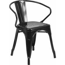 Metal Indoor-Outdoor Chair with Arms