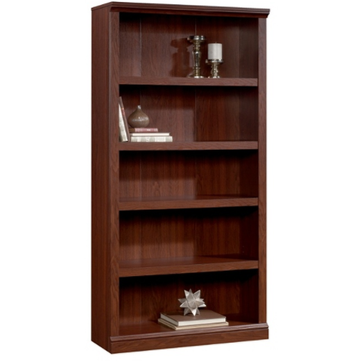 Realspace Premium Bookcase, 5-Shelf, Brick Cherry