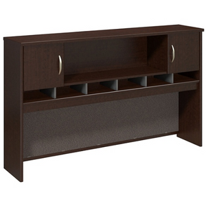 "Bush Business Furniture Components 2-Door Hutch, 72""W, Mocha Cherry, Standard Delivery"