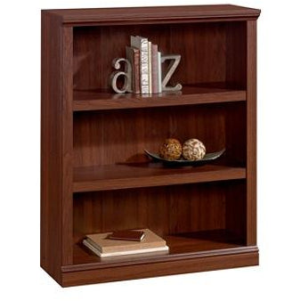(Scratch & Dent) Realspace Outlet Premium Bookcase, 3-Shelf, Brick Cherry