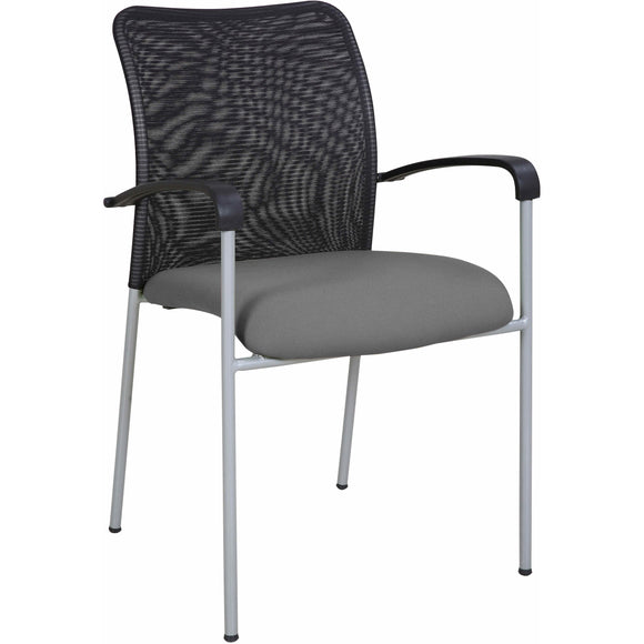 Weston Mesh Stackable Visitor Chair, Gray