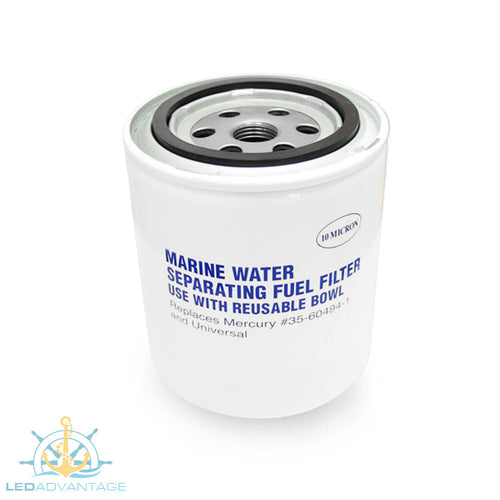 Marine Water Separating Fuel Filter - Use with Reuseable Bowl (Replaces Mercury #35-60494-1 & #35-807172)