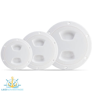 "Standard Inspection Ports - White (Available in 4"", 5"" & 6"")"