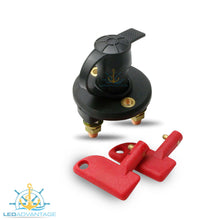 Load image into Gallery viewer, 12~24v Marine Battery Isolator Switch with Water-Resistant Rubber Cap & 2 Keys