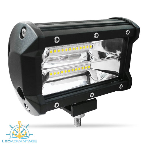 12~24v 36 Watt Double Row LED Work/Boat Light (Black Housing)