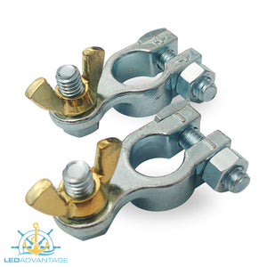Chrome Plated Brass Terminals with Tapered Post Hole (Sold as a Pair)