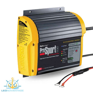 12v Pro Sport Series 6 On-Board Marine Battery Charger System (6A Single Bank)
