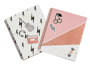 Lauren and Johnny 2 pack notebook with stickers