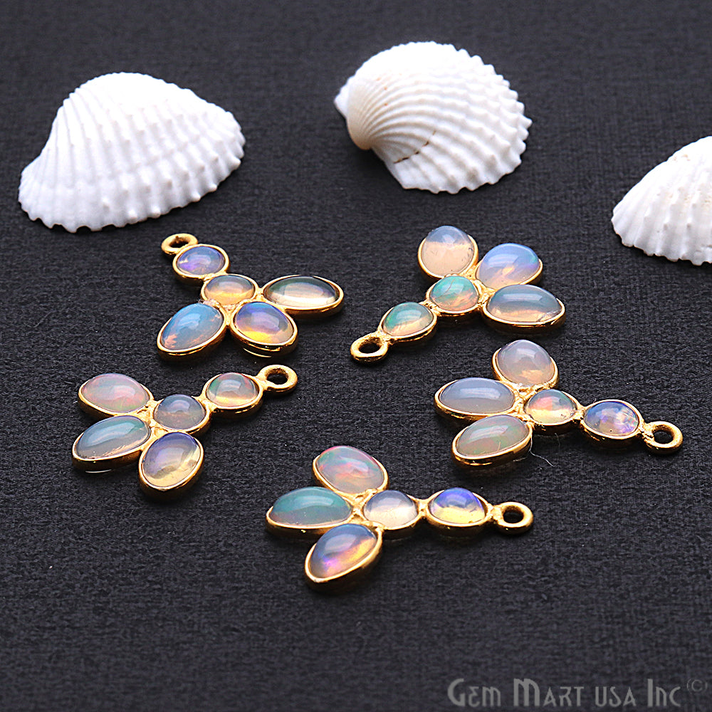 DIY Opal October Birthstone 19x15mm Chandelier Finding Component (Pick Your Plating) (13091)