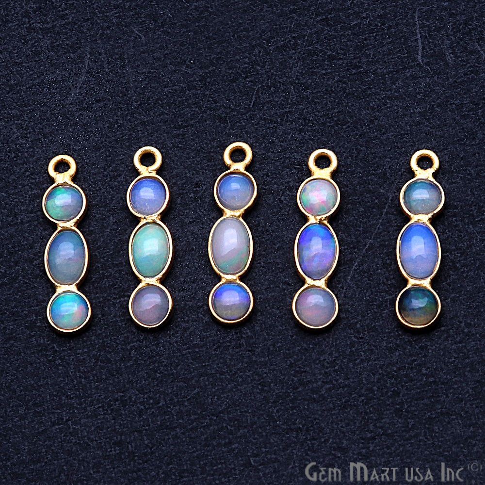 DIY Opal October Birthstone 19x4mm Chandelier Finding Component (Pick Your Plating) (13092)