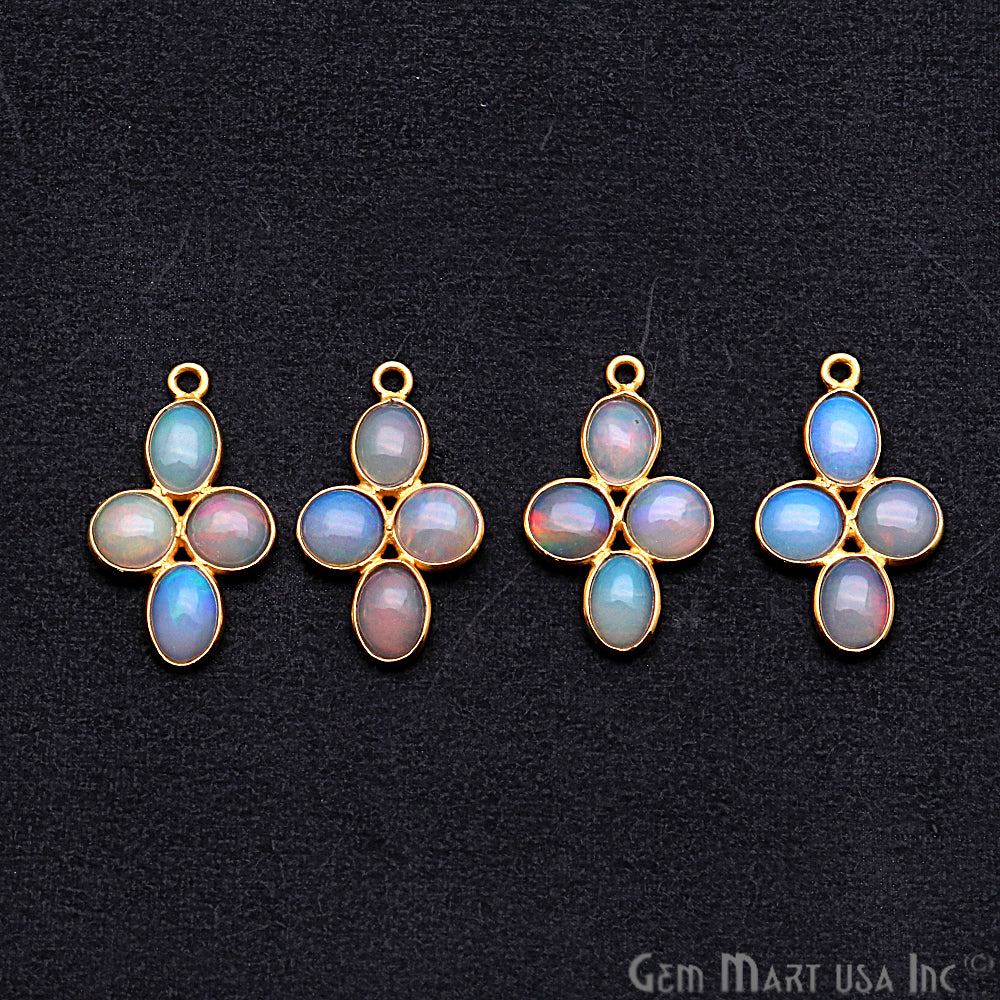 DIY Opal October Birthstone 23x13mm Chandelier Finding Component (Pick Your Plating) (13095)