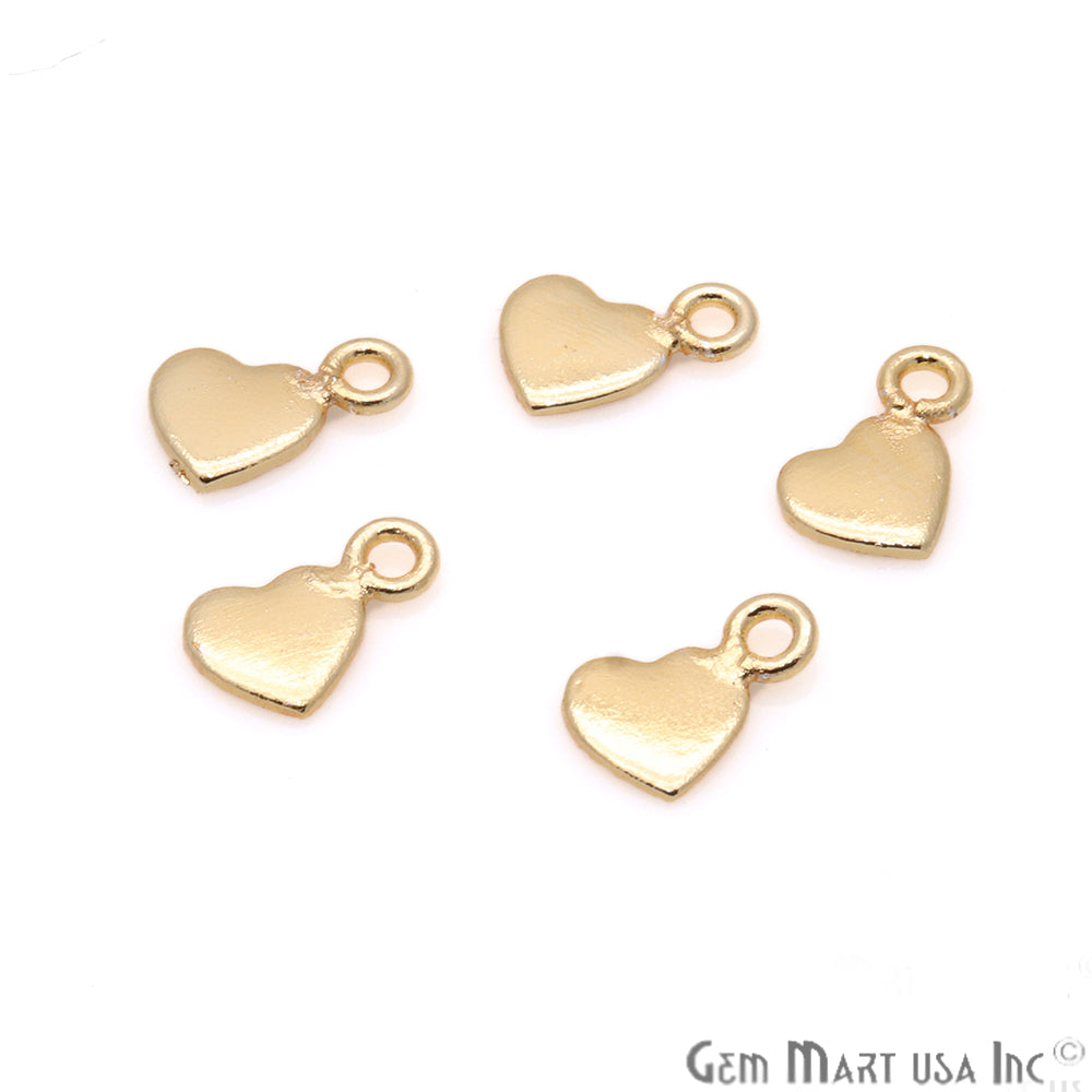5pc Lot Heart Finding 9x6mm Gold Plated Jewelry Making Charm