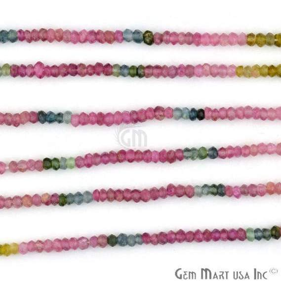 1 Strand Multi Tourmaline Faceted Rondelle 25-3mm, 14Inch Length AAAmazing quality (RLTM-70001)