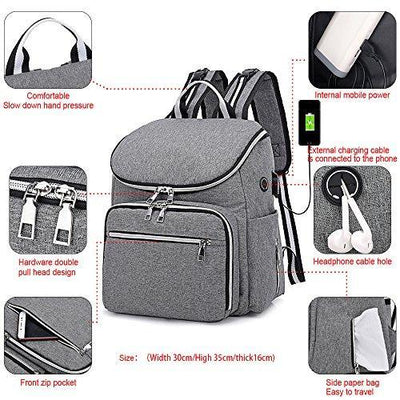 Mummy Diaper Bag with Extra Insulation Portable Pocket for Outdoor Activities