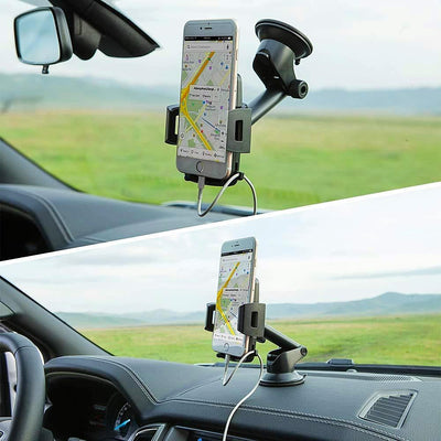 Car Phone Mount Universal Smartphone Holder 360 degree rotation - The Happy Tourist LTD