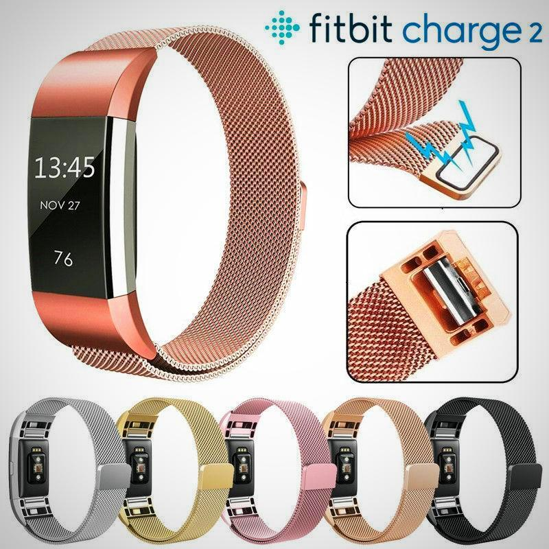 Fitbit Charge 2 Band Strap Magnetic Milanese Stainless Steel