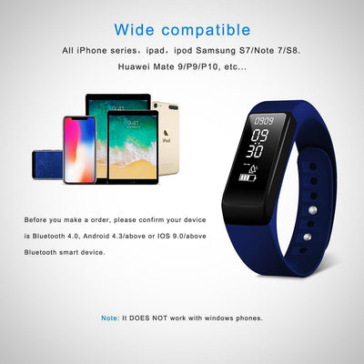 Fitness Tracker, Smart Bracelet Activity Tracker Watch With Sleep Monitor - The Happy Tourist LTD