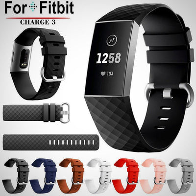 Fitbit Charge 3 Replacement Silicone Watch Wrist Band Strap - The Happy Tourist LTD