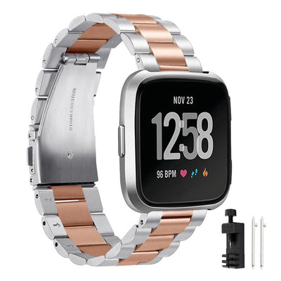 Replacement Stainless Steel Strap Band For Fitbit Versa - The Happy Tourist LTD
