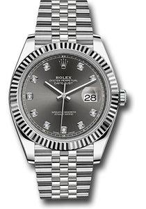 Rolex Steel 18k WG Datejust 41mm #126334 dkrdj