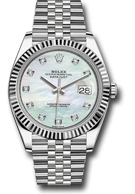 Rolex Steel 18k WG Datejust 41mm #126334 wmdj
