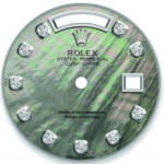 Custom lily pad pond  mother of pearl diamond dial. 36mm Day-Date
