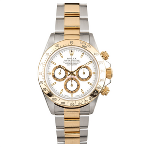 Rolex Steel and Gold Daytona with Zenith Movement #16523 White Dial