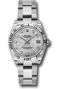 Rolex Steel and 18k WG Datejust - 31mm - Mid-Size #178274 mdo
