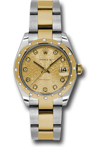 Rolex Steel, YG, & Diamond Datejust - 31mm - Mid-Size #178343 chjdo