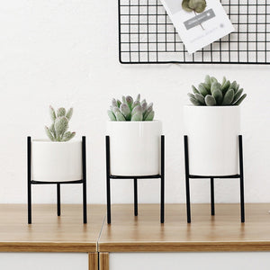 CERAMIC FLOWER POT STAND