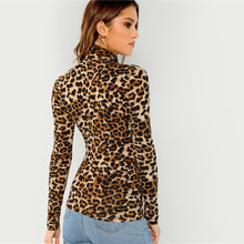 Load image into Gallery viewer, WILD BY HEART TURTLENECK TOP - LEOPARD