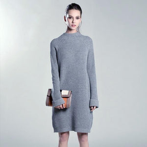 DON'T CALL ME KNITTED SWEATER DRESS