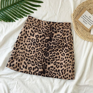 WILD BY HEART MINI SKIRT - LEOPARD