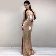 Load image into Gallery viewer, BORROWED LOVE SEQUIN MAXI DRESS