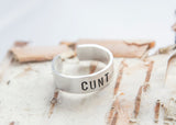 Cunt ring, Offensive ring, feminist gift, fierce jewelry, offensive ring, funny gift