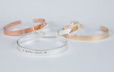 No Matter Where Bracelet, Long Distance Gift Cuff, Personalized Engraved Bracelet