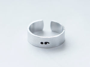 Semicolon ring Suicide prevention Suicide awareness ring hope gift