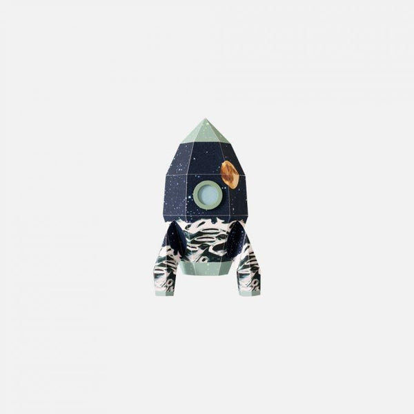 Sticker decorativ pentru perete Rocket Moonscape 10 x 17 cm