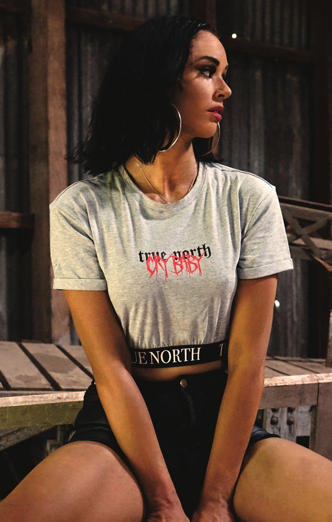 GREY CRY BABY CROP Imperial Clothing Imperial Clothing