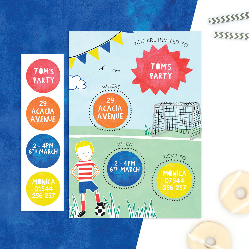 personalised football invitations