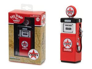 "1951 Wayne 505 Gas Pump Caltex \Super"" Gas Pump Replica Vintage Series 4 1/18 Diecast Model by Greenlight"""