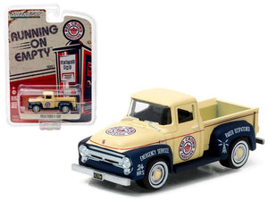 1956 Ford F-100 Red Crown Gasoline Pickup Truck 1/64 Diecast Model Car by Greenlight