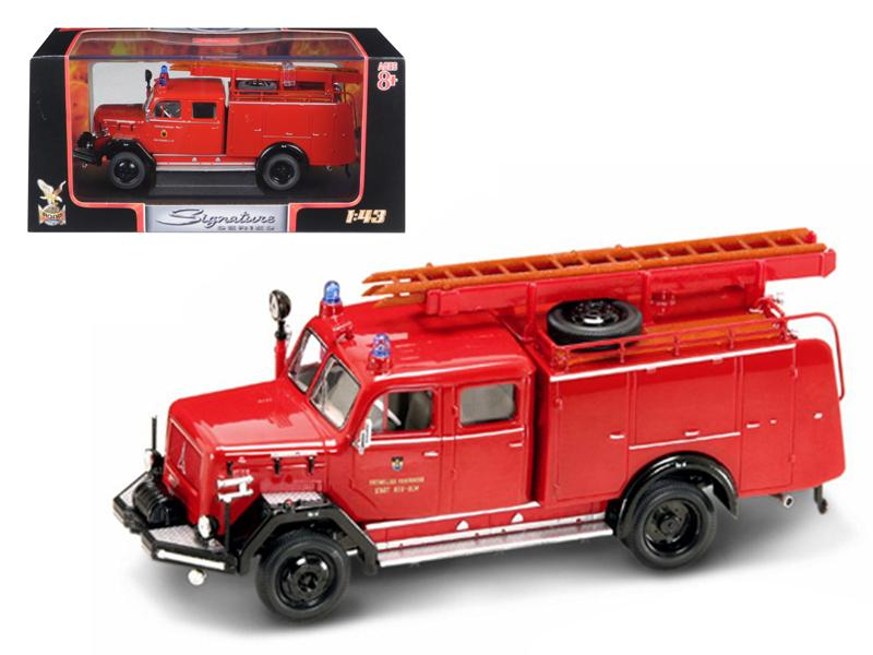 1964 Magirus Deutz 150 D 10 F TLF-16 Fire Engine 1/43 Diecast Car by Road Signature