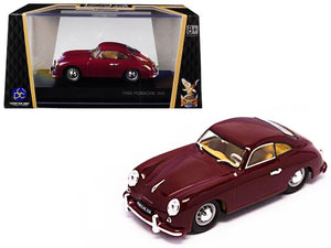 1952 Porsche 356 Coupe Burgundy 1/43 Diecast Model Car by Road Signature