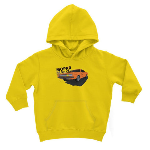 Image of '68 Charger Orange Front Print Kids Hoodie