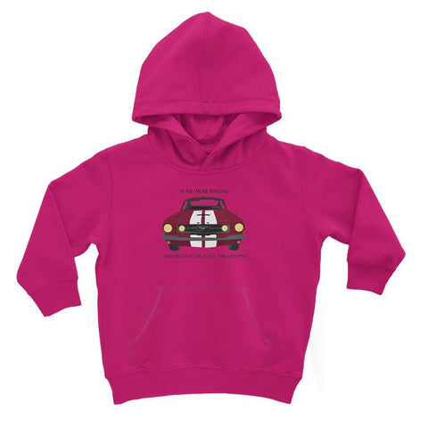 Image of '66 Red Mustang Front Kids Hoodie
