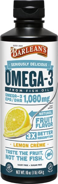 Barleans Seriously Delicious Omega-3 Fish Oil Lemon Crème